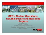 OPG's Nuclear Operations, Refurbishments and ... - media.cns-snc.ca