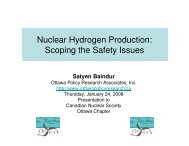 Nuclear Hydrogen Production: Scoping the ... - media.cns-snc.ca