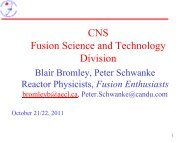 CNS Fusion Science and Technology Division - media.cns-snc.ca