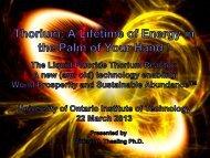 Energy From Thorium Foundation - media.cns-snc.ca