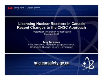 Licensing Nuclear Reactors in Canada - media.cns-snc.ca