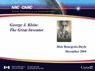 George J. Klein: The Great Inventor - media.cns-snc.ca