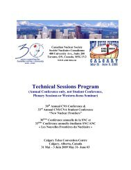Technical Program Outline - media.cns-snc.ca - SNC