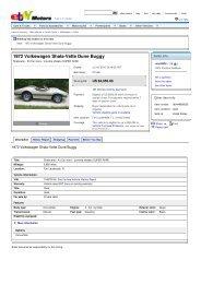 1972 Volkswagen Shala-Vette Dune Buggy - Keith Martin's Collector ...