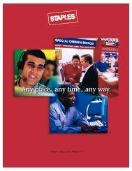 Staples, Inc. 1999 Annual Report