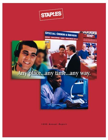 Staples, Inc. 1999 Annual Report