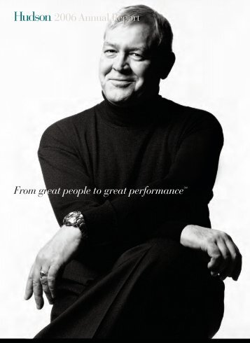 From great people to great performanceSM 2006 Annual Report