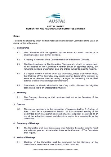 Committee Charter Template. management tools tate and tryon ...