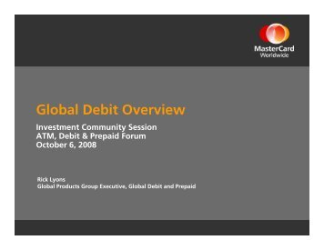 Global Debit Overview