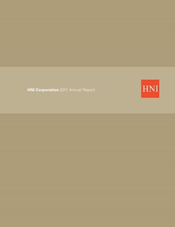 HNI Corporation 2011 Annual Report
