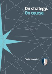 2011 Printed Annual Report - Investor Relations - Paladin Energy Ltd