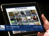 2011 Investor Day