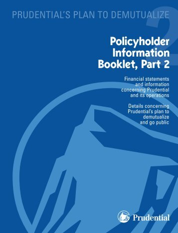 Policyholder Information Booklet, Part 2