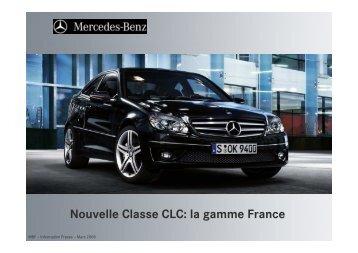 Nouvelle Classe CLC: la gamme France - Daimler