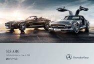 Tarif SLS AMG Roadster - Mercedes-Benz France