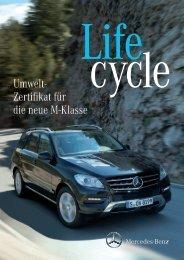 Umweltzertifikat der neuen M-Klasse - Mercedes-Benz Deutschland