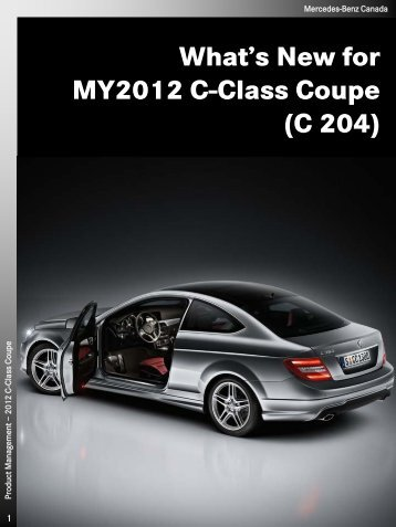 2012 C-Class Coupe Technical Data - Daimler