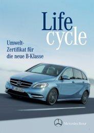 B-Klasse Umweltzertifikat Download - Mercedes-Benz Deutschland