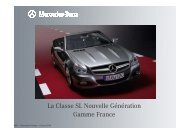 La Classe SL Nouvelle Génération Gamme France - Daimler