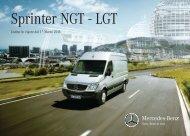 Listino Sprinter LGT cop - Daimler