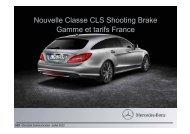 Nouvelle Classe CLS Shooting Brake Gamme et tarifs ... - Daimler