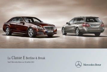 06 - E_Berline et Break_Tarifs - Daimler Media Site