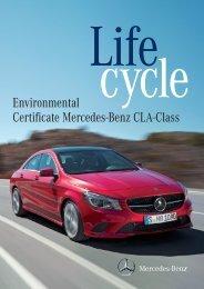 Environmental Certificate Mercedes-Benz CLA-Class
