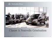Information gamme Classe A nouvelle génération - Daimler