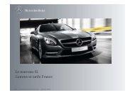 Tarif et gamme France nouveau SL - Daimler
