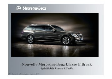 IM de lancement break Classe E S212 vd - Daimler