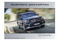 Nouvelle Classe GL : gamme et tarifs France - Daimler