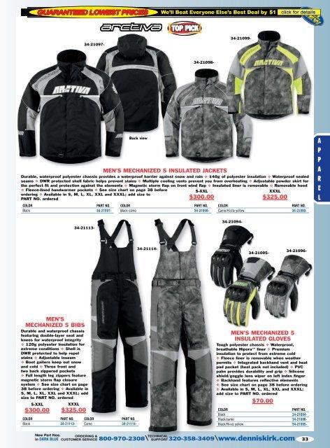 Gears Gen X-4 Warm Tek Womens Motorcycle Snowmobile Coats Heated Jacket Liners