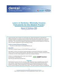 CE 394 - Lasers in Dentistry: Minimally Invasive ... - DentalCare.com