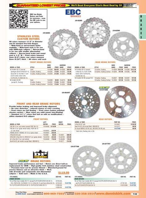 EBC FR SINTERED BRAKE PADS FIT PERFORMANCE MACHINE CALIPER 137 X 4