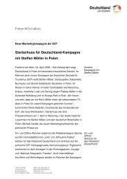 Neue Marketingkampagne der DZT - Germany Travel