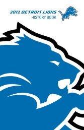 2012 DETROIT LIONS HISTORY BOOK - Detroit Lions Mediaroom