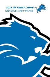 2012 Detroit Lions ExEcutivEs and coaching
