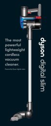 The most powerful lightweight cordless vacuum cleaner.
