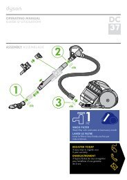 operating manual guide d'utilisation assembly assemblage - Dyson