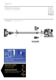 operating manual guide d'utilisation assembly 4 ... - Dyson