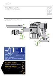 operating manual guide d'utilisation assembly • assemblage ... - Dyson