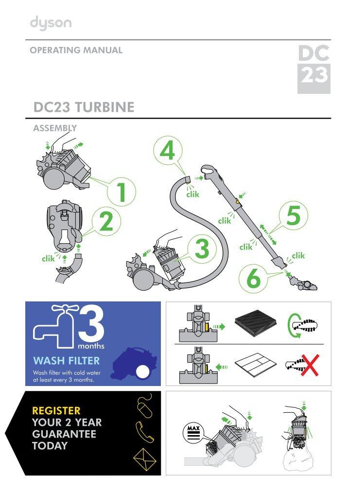 Dyson dc23 motorhead user manual пылесос борк или дайсон что лучше