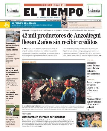 42 mil productores de Anzoátegui llevan 2 años sin ... - El Tiempo