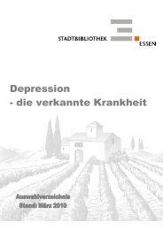 Depression - die verkannte Krankheit - Essen