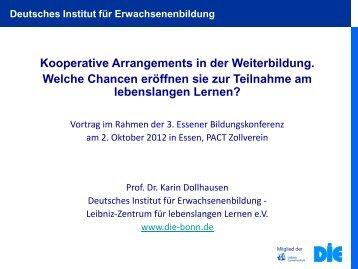 Vortrag Frau Prof. Dollhausen - Essen