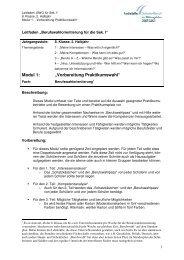 8. Kl. 2. Hj. M 1 Vorbereitung Praktikumswahl - Essen