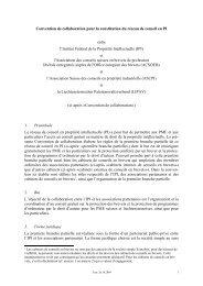 Convention de collaboration pour la constitution du réseau de ...