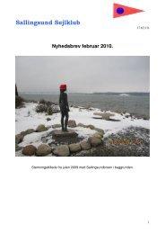 Nyhedsbrev februar 2010. - Sallingsund Sejlklub