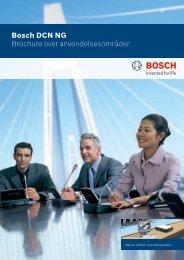 Bosch DCN NG Brochure over anvendelsesområder