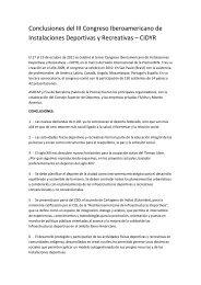 Conclusiones del III Congreso Iberoamericano de ... - Fira Barcelona